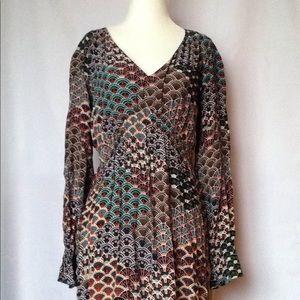 ANTHRO Maeve Pattern Boho Sleeved Dress